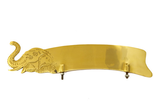 Brass Elephant Design number plate For All bike Mudguard Decoration