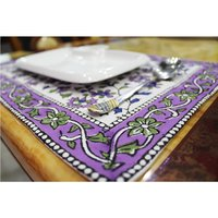 Colourful Design Block Print Indian Cotton Fabric Home Decorations Accessories Custom Decorative Cotton Dinner Cloth Table Mat