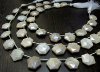 AAA Top Quality White Moonstone AB Mystic Coated Hexagon Shape