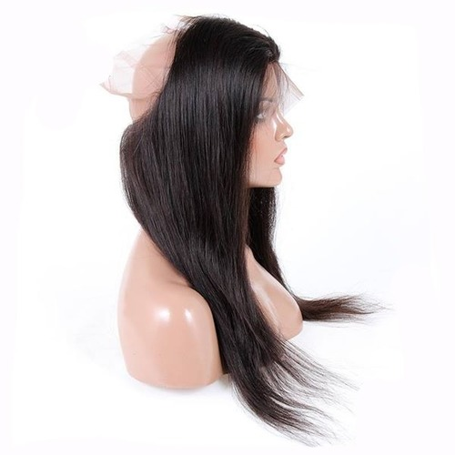 Temple Hair 360 Lace Frontal Wig Straight