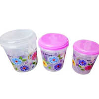 Kitchen Plastic Printed Container