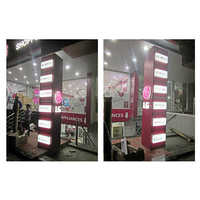 Outdoor Backlit ACP Pillar Signage