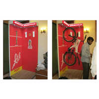 Wooden Advertisement Bicycle Display