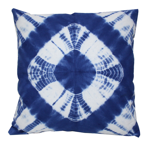 Four Square Tie Die Cushion Cover