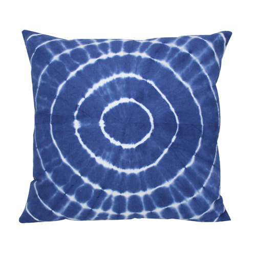 Round Tie Die Cushion Cover
