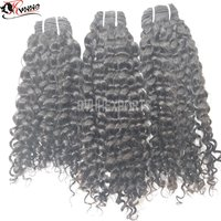 Wholesale Factory Curly Drawn Wave Indian Human Hair Extension