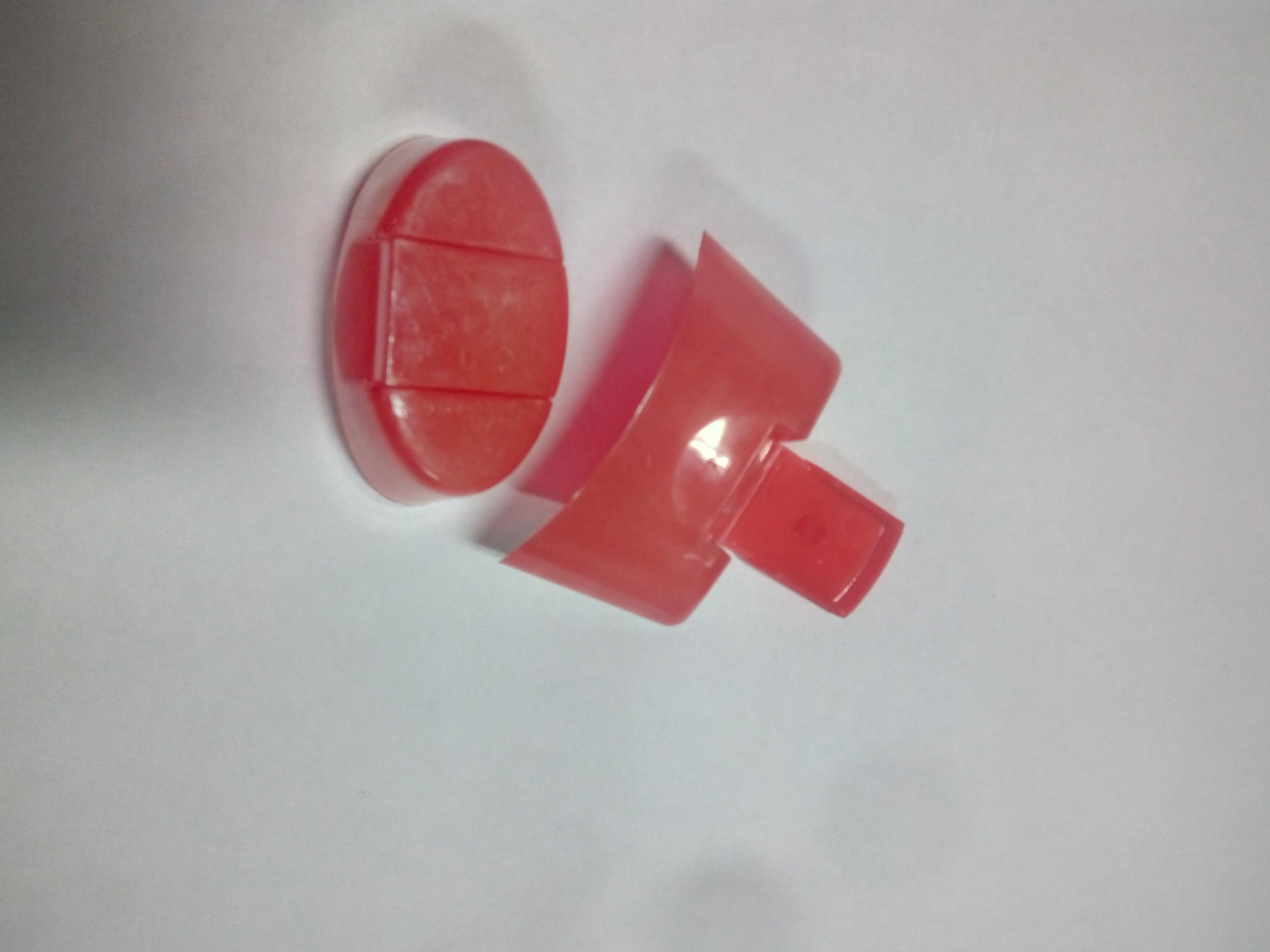 Oval Glossy Flip Top Cap Transparent