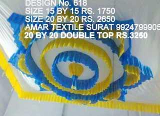 Pandal ceiling design fabric
