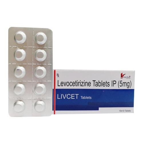 IP 5mg Levocetirizine Tablets