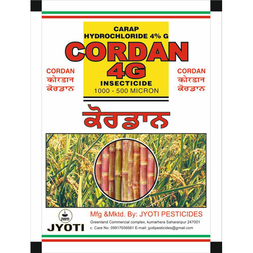 Cartap Hydrochloride 4% G Insecticide