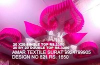 Pandal decorating ceiling with fabric
