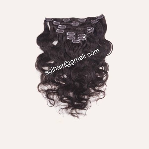 Temple Hair Clip In Hair Extensions Body Wavy