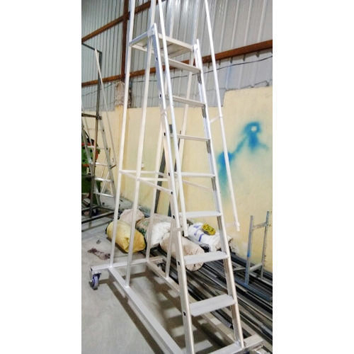 Aluminum Industrial Trolley Ladder