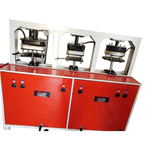 3 Die Areca Leaf Plate Making Machine
