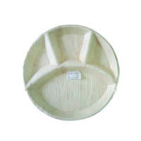 4 Partition Areca Round Plate