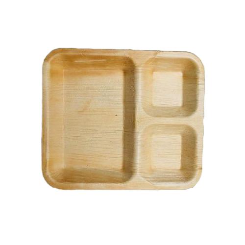 3 Compartment Areca Leaf Plate
