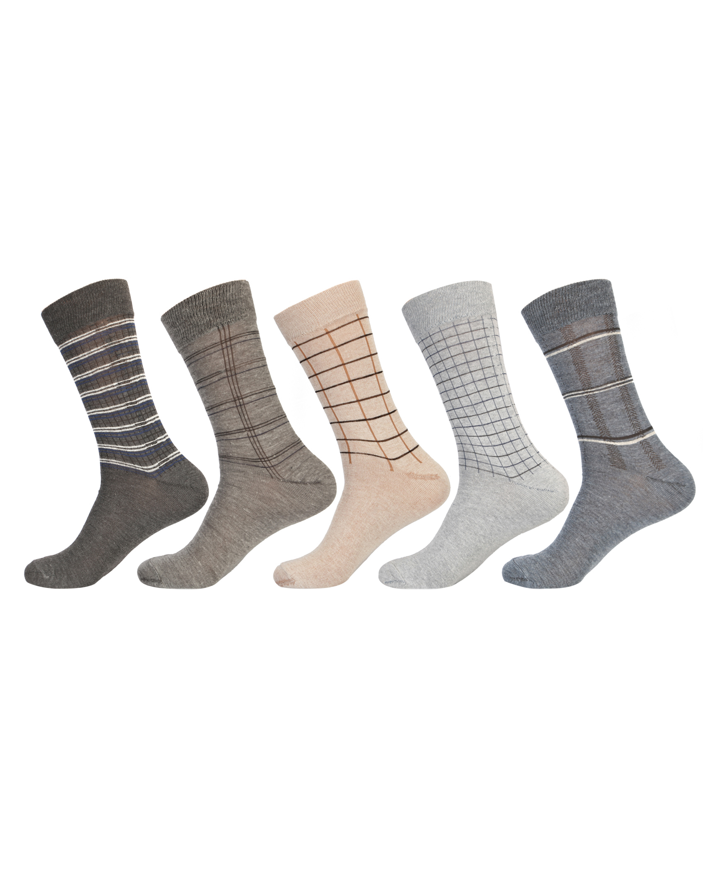 Men's Cotton Calf Length Ribbed Formal Socks