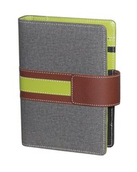 Leather A6 Grey Business Planner Diary/Organiser