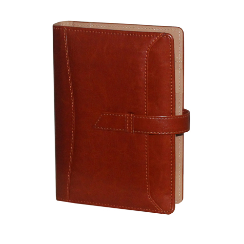 Leather A6 Tan Business Planner Diary