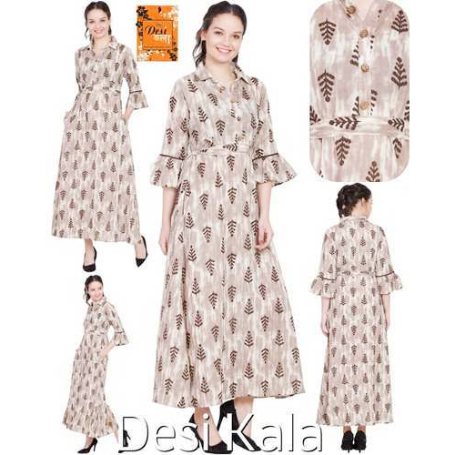 Trendy Ladies Long Dress