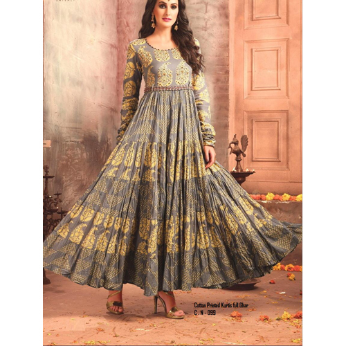 Ladies Cotton Anarkali Kurti