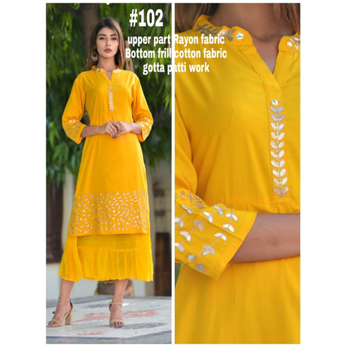 Ladies Straight Plain Kurti
