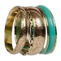 Brass resin bangle sets