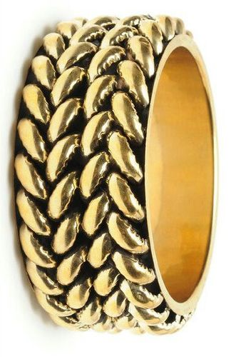Brass pipe bangle