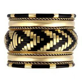 Brass bangle set