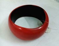 Resin red bangle