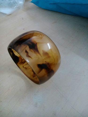 Resin wooden designed bangle