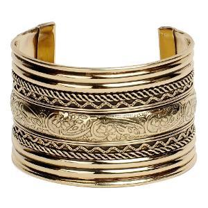 Brass designed cuff bracelet