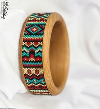 Wooden colourful bangle