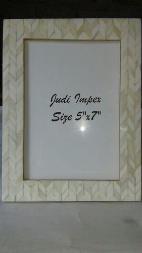 White bone burfi photo frame