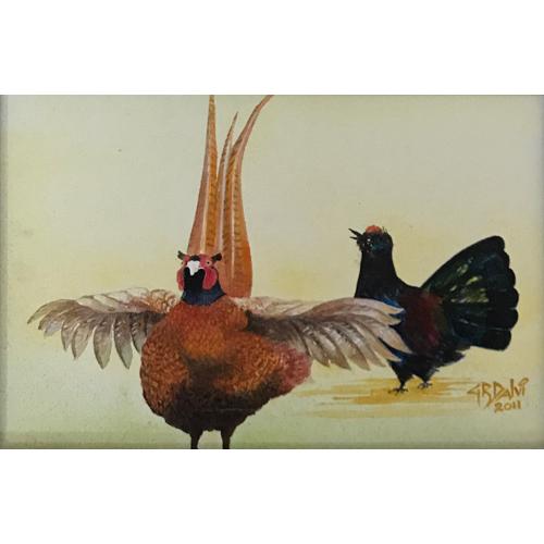 Acrylic Bird Painting