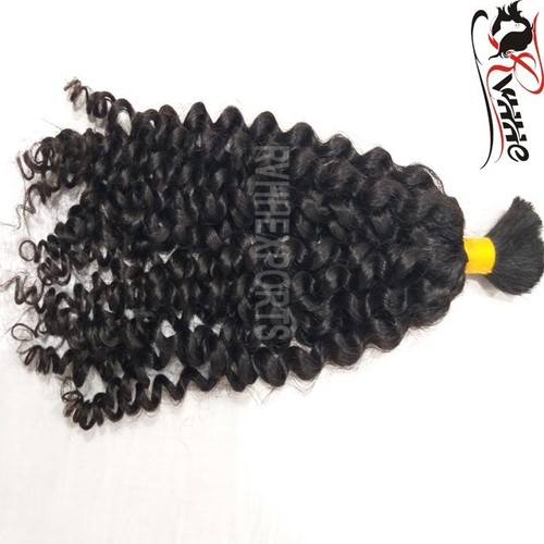 Wholesale Factory Bulk Curly Drawn Wave Indian Human Hair Extension