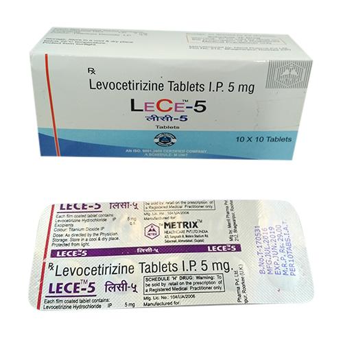 Lece-5 5mg Levocetirizine Tablets I.P.