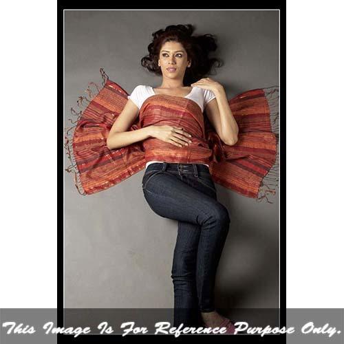 Ladies Warp Stripe Shawl