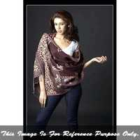 Ladies Jacquard Shawl With Fringes