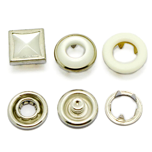 Square Pearl Prong Snap Button