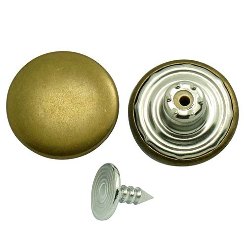 Antique Metal Jeans Button