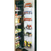 Flat Wire & Wood Pantry Unit (6 Layer)