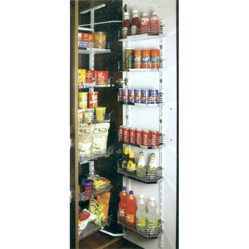 Wood & Wire Pantry Unit (6 Layer)