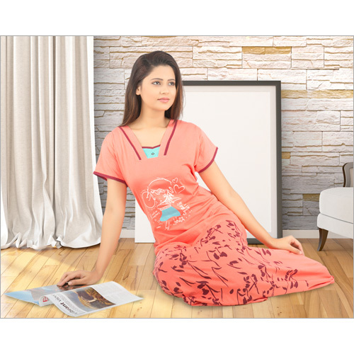 Ladies Soft Fabric Night Suit