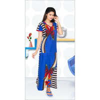 Ladies Printed Long Nighty