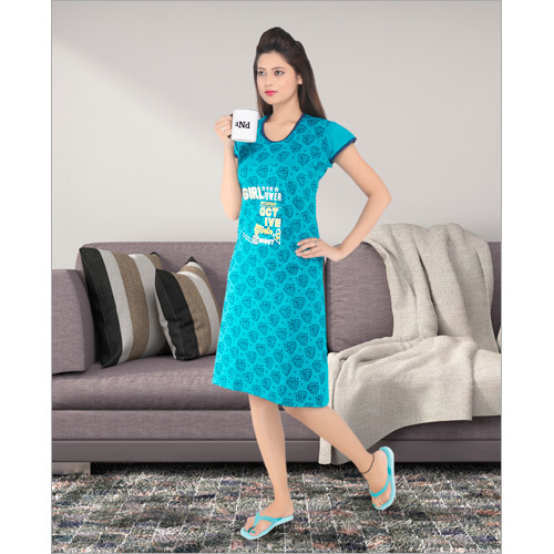 Ladies Printed Short Night Dress