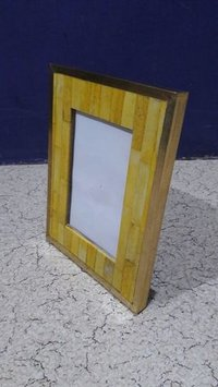 Wood & bone photo frame