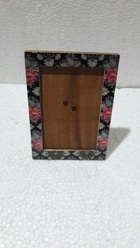 Flower printed photo frame
