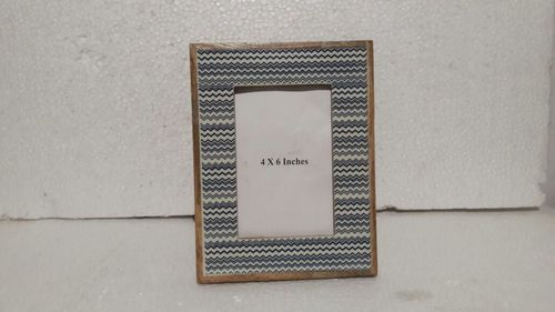 Wooden side printed photo frame