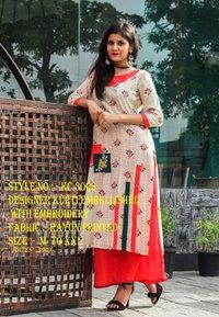 designer kurti embellished with emberoedry